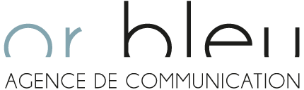 Logo Or Bleu Communication
